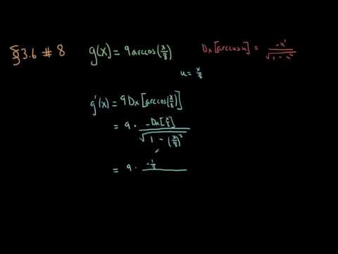 Section 3.6 - Exercise 8 - Inverse trigonometric differentiation