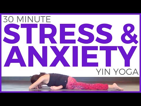 30 Minute Yin Yoga for Stress & Anxiety | SarahBethYoga