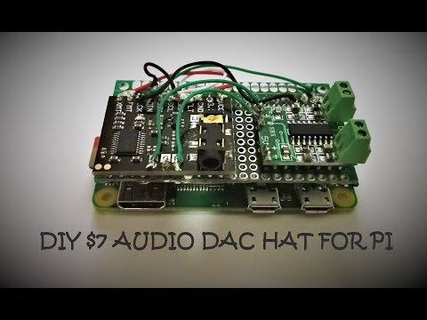 DIY Audio DAC Hat for Pi with Headphone Jack and 3W Speaker Output