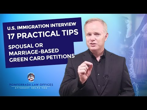US Immigration Interview Spousal Marriage Petition