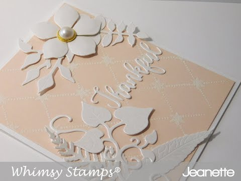 Whimsy Stamps | Lattice and Dies Thank You Card