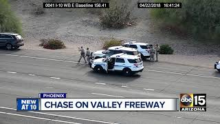 DPS pursue fleeing driver on Interstate 10 in Phoenix