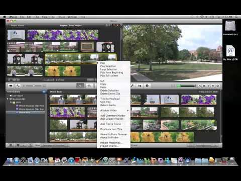 iMovie 11: Creating a Freeze Frame