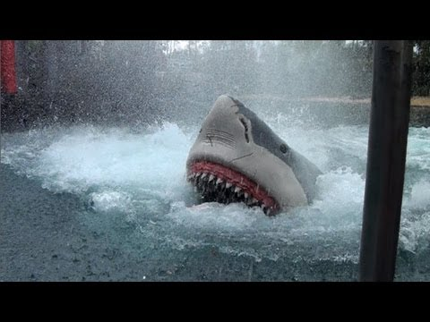 Final Look at Jaws The Ride Universal Studios Orlando Florida Complete Attraction On-Ride HD POV