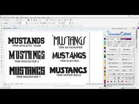 TRW Custom True Type Fonts for Commercial Apparel/Sign industry Use