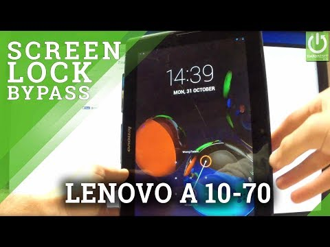 Hard Reset LENOVO A10-70 - Bypass Pattern Lock by Recovery Mode