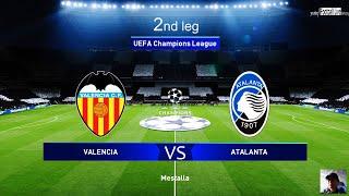 PES 2020 | Valencia vs Atalanta | 2nd leg UEFA Champions League UCL | Gameplay PC