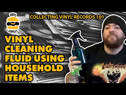 VINYL 101: Make Your Own Vinyl Cleaning Fluid Using Household Items.