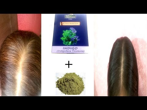 Dye Hair Black NATURALLY with Henna & Indigo Powder | Change White Hair To Black Hair Naturally