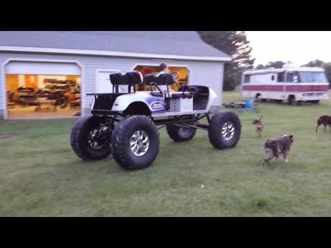 Lifted monster ez go golf cart on 39.5