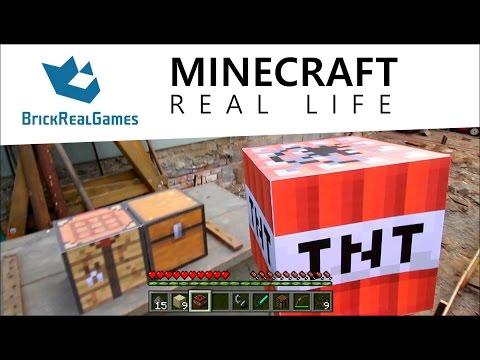 Minecraft Real Life - How to Make TNT - BrickRealGames