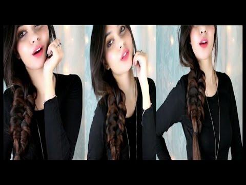 Messy Romantic Loop braid|Cute side braid hair tuitorial|Messy cute side braid|knotted messy  braid