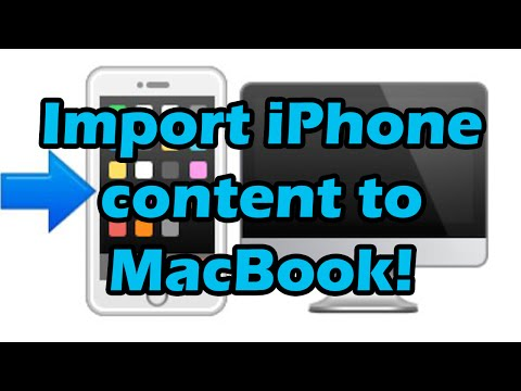 How to import/transfer/move content from iPhone/iPod/iPad to MacbookPro