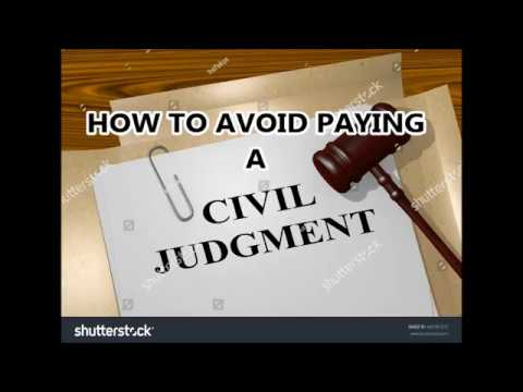 HOW TO AVOID PAYING A CIVIL JUDGMENT