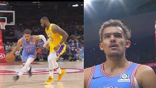 Trae Young Shows LeBron James No Fear & Exposes His Lazy Defense! Lakers vs Hawks