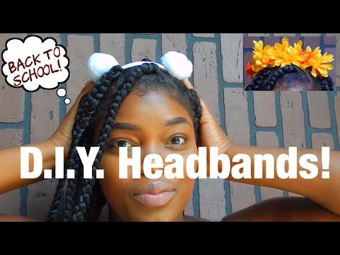 D.I.Y. Back to school Pompom and Floral Headbands!