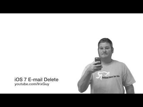 iOS 7 E-mail Delete HOW-TO