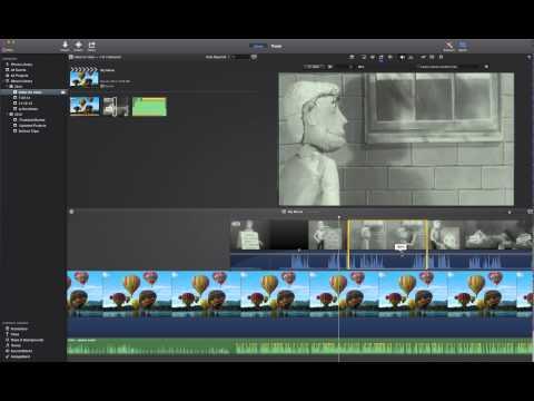 Adjusting audio levels in iMovie