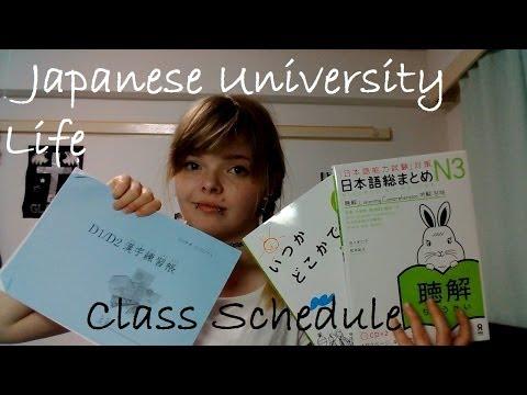 JAPANESE UNIVERSITY LIFE: Class schedule
