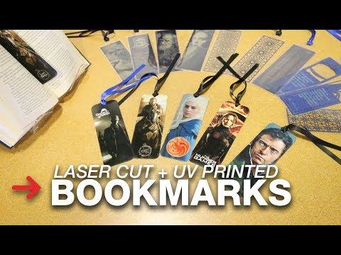 Laser cut bookmarks | Laser engraving paper | Laser cut paper