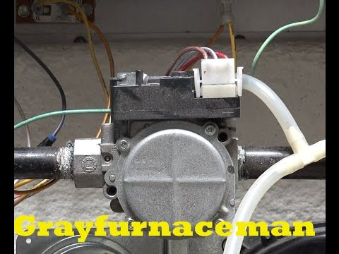 How to check natural gas pressure using the Gemini gas valve taps for manifold pressure