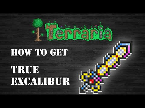 How To Craft The True Excalibur In Terraria Android/IOS [Step By Step Guide]