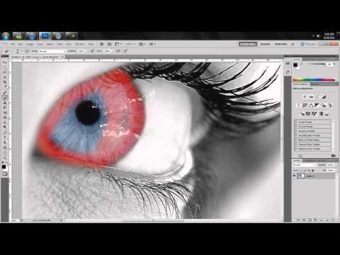 Photoshop CS5 changing eye color