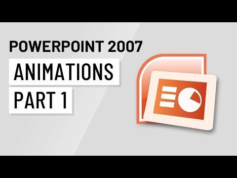 PowerPoint 2007: Animations Part 1