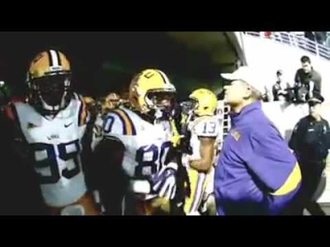 LSU Running Out of the Tunnel vs. Ole Miss 2011