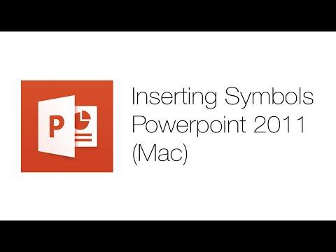 Office Tutorials - Inserting Symbols (Microsoft Powerpoint 2011)