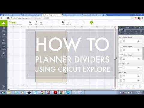 How to Make Personal Size Planner Dividers with Cricut Explore