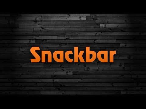 Web Design - Bottom Snackbar in HTML