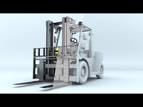 Maya Modeling Timelapse I Hyundai 70DS-7E (Forklift)