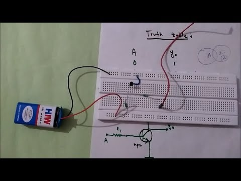 NOT GATE using transistor