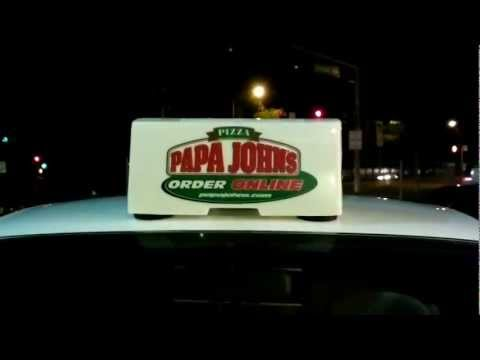 Funny Papa Johns Blinking Sign