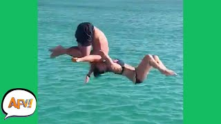 He FLIPPED, She DIDN'T! 😂 | Funny Fails | AFV 2021