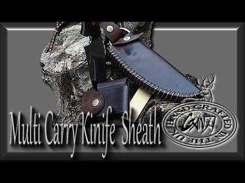 MULTI CARRY SHEATH-HUNTING KNIFE-FERROUS ROD-FALLKNIVEN D4 SHARPENER
