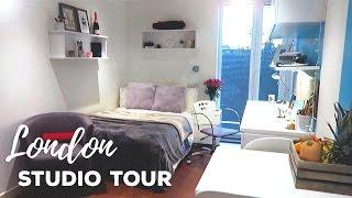 London Studio Apartment Tour!   Gradpad Studios, London   Atousa