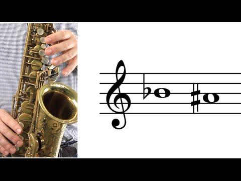ALTO SAX: How to Play B-flat (A-sharp)