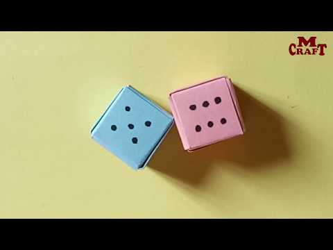 How to make Paper Dice.Step by step (very easy)