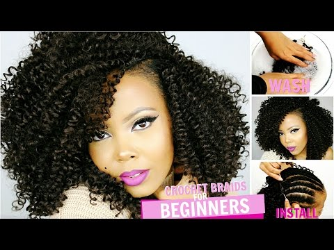 👌 HOW TO  CROCHET BRAIDS FOR BEGINNERS STEP BY STEP   OUTRE XPRESSION 3C WHIRLY LOOP   TASTEPINK