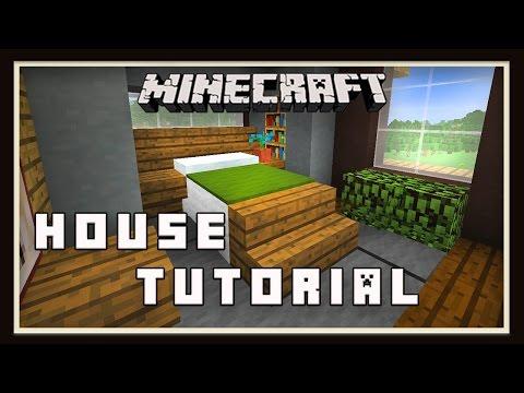 Minecraft:   Modern House Build  (Part 4 Bedroom & Bathroom Design)