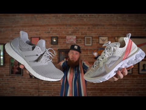 NIKE REACT ELEMENT 87 VS ADIDAS ULTRABOOST! (Which Sneaker is More Comfortable?)