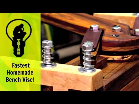Unbelievably Fast Homemade Bench Vise!