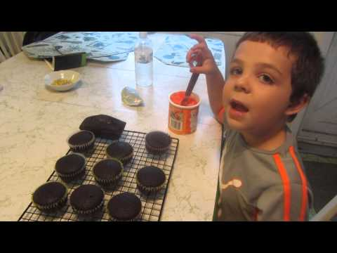 Gluten Free Devil's Food Cupcakes ~ Baking with Ricky