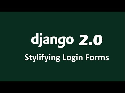 How to stylify Django Built in Login form using Bootstrap | How to add class to Login form