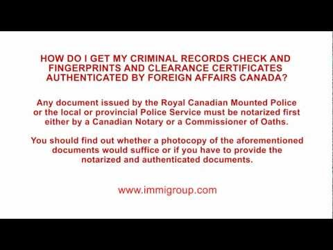 How do I get my Criminal Records Check and Fingerprints Authenticated by FAITC?
