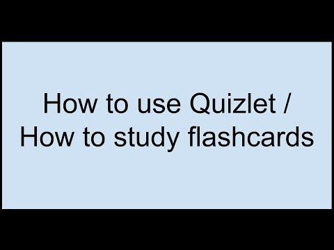 How I recommend you use Quizlet to study your flashcards