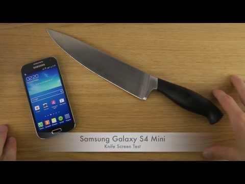 Samsung Galaxy S4 Mini - Knife Screen Test