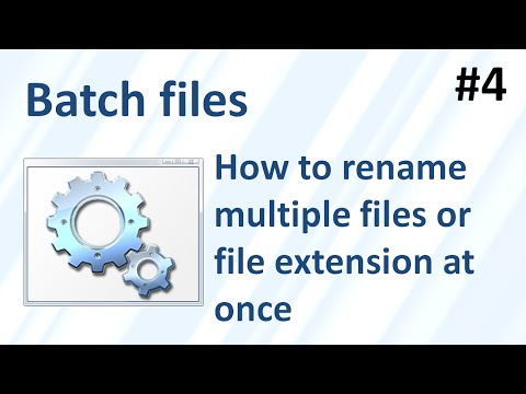 How to change / rename multiple filenames or file extensions at once (Batch files 4)